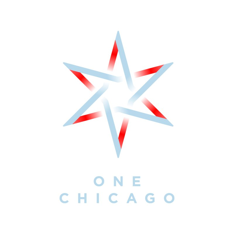 One Chicago Logo - Blue Men's T-Shirt by One Chicago Shop