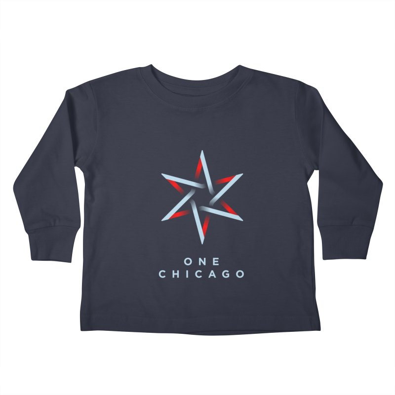 One Chicago Logo - Blue Kids Toddler Longsleeve T-Shirt by One Chicago Shop