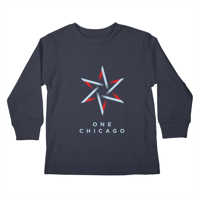One Chicago Logo - Blue Kids Longsleeve T-Shirt by One Chicago Shop