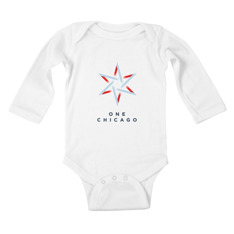 One Chicago Logo Kids Baby Longsleeve Bodysuit by One Chicago Shop