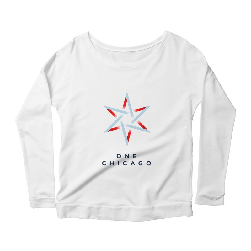 One Chicago Logo Women's Scoop Neck Longsleeve T-Shirt by One Chicago Shop