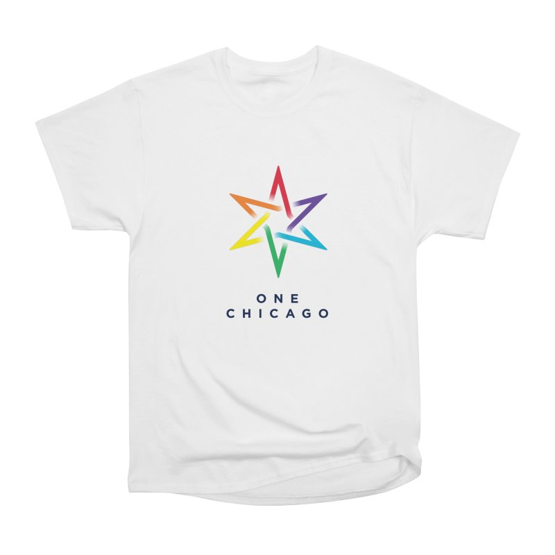 One Chicago - Pride Women's Heavyweight Unisex T-Shirt by One Chicago Shop