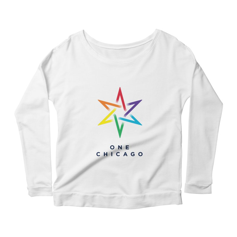 One Chicago - Pride Women's Scoop Neck Longsleeve T-Shirt by One Chicago Shop