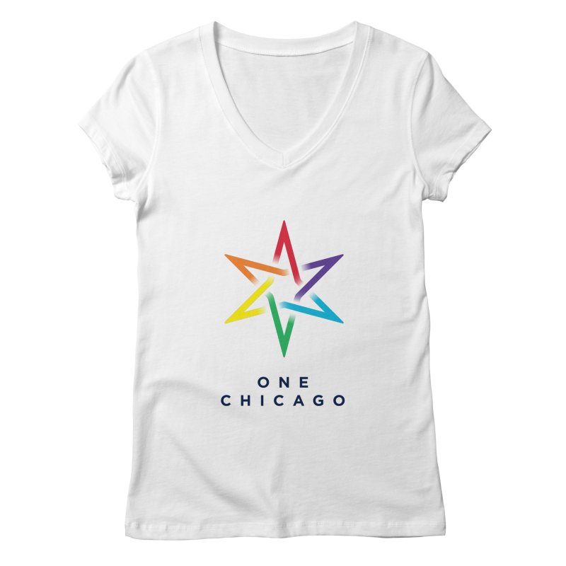 One Chicago - Pride Women's Regular V-Neck by One Chicago Shop