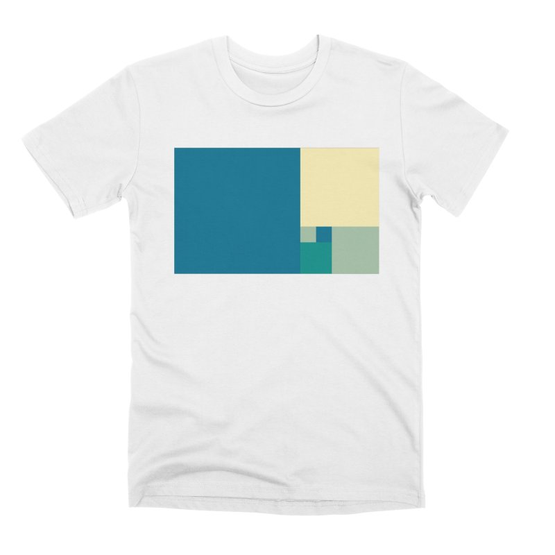 Golden blocks Men's T-Shirt by onedrop's Artist Shop