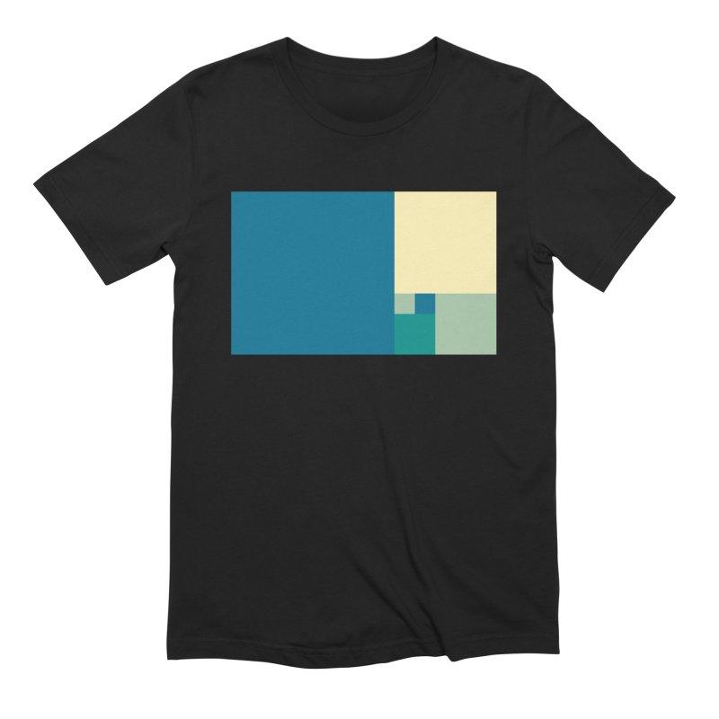 Golden blocks Men's Extra Soft T-Shirt by onedrop's Artist Shop