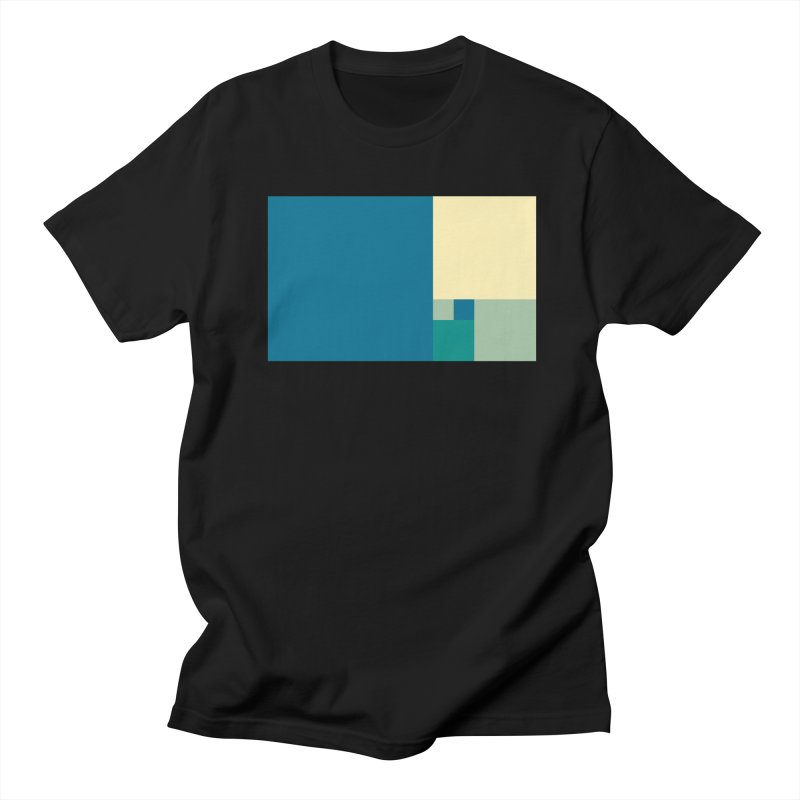 Golden blocks Men's Regular T-Shirt by onedrop's Artist Shop