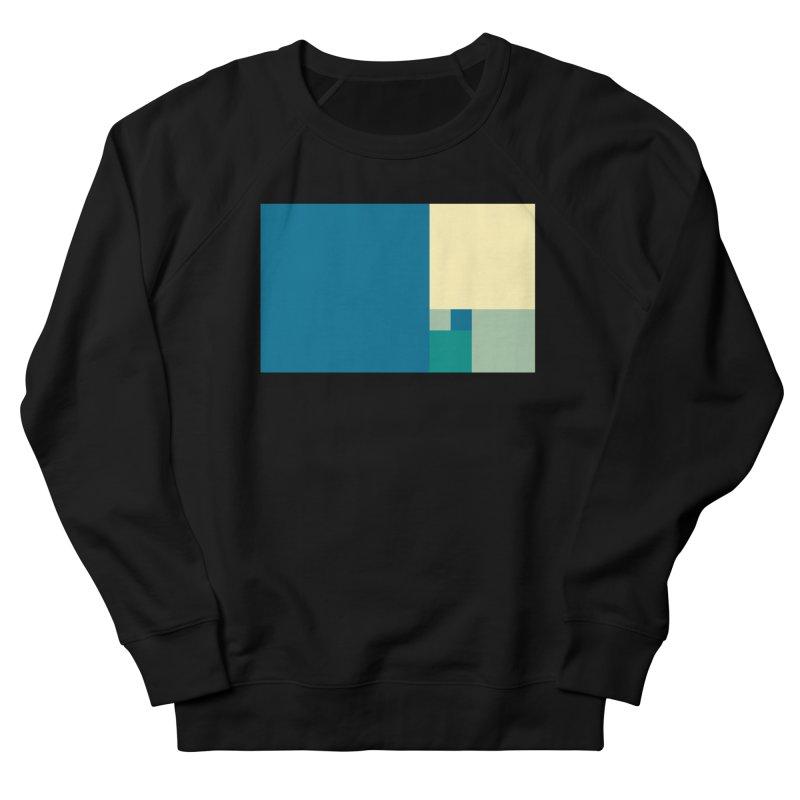 Golden blocks Women's French Terry Sweatshirt by onedrop's Artist Shop