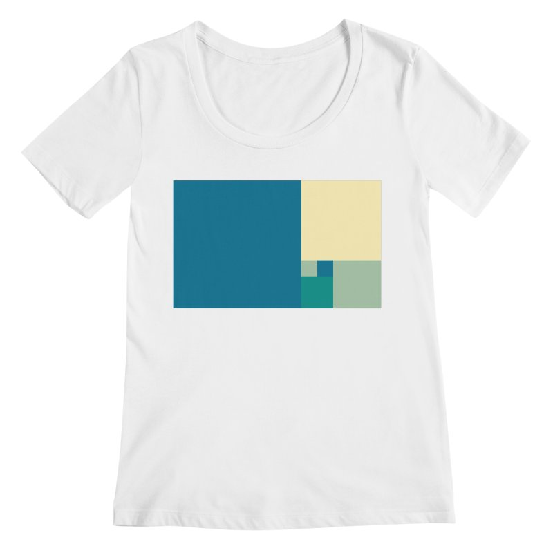 Golden blocks Women's Regular Scoop Neck by onedrop's Artist Shop