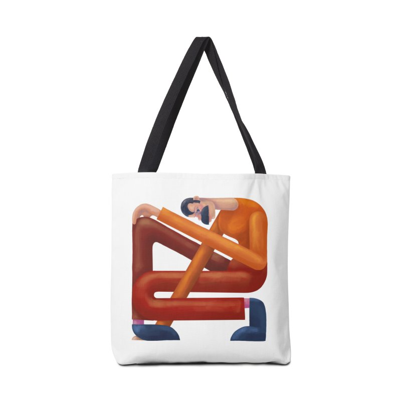 Boxed in Accessories Tote Bag Bag by onedrop's Artist Shop