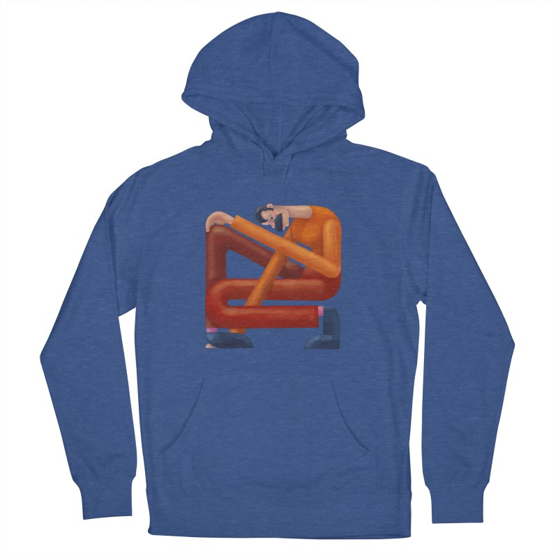 Boxed in Men's French Terry Pullover Hoody by onedrop's Artist Shop