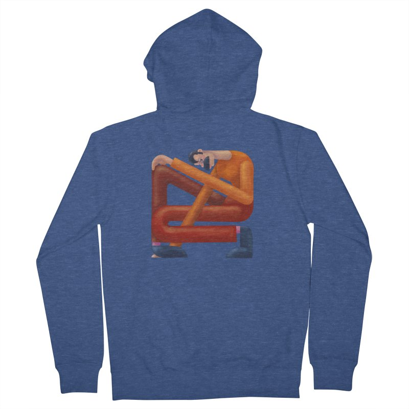 Boxed in Women's French Terry Zip-Up Hoody by onedrop's Artist Shop
