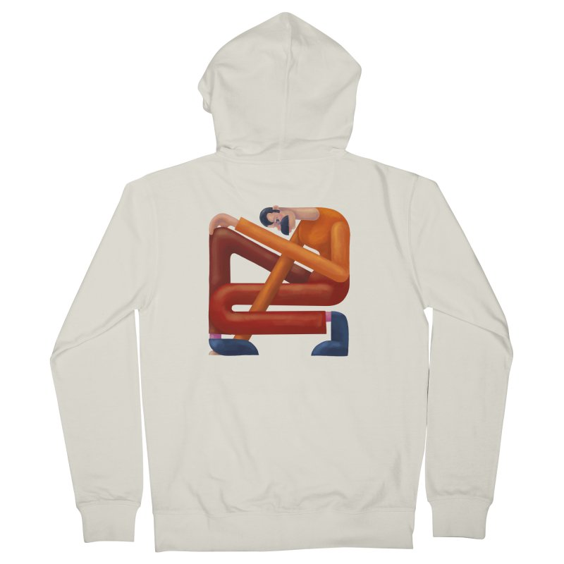Boxed in Men's French Terry Zip-Up Hoody by onedrop's Artist Shop
