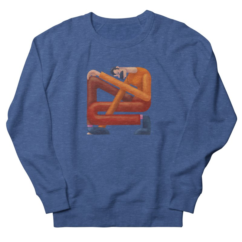 Boxed in Men's French Terry Sweatshirt by onedrop's Artist Shop