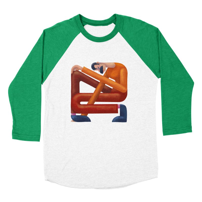 Boxed in Men's Baseball Triblend Longsleeve T-Shirt by onedrop's Artist Shop