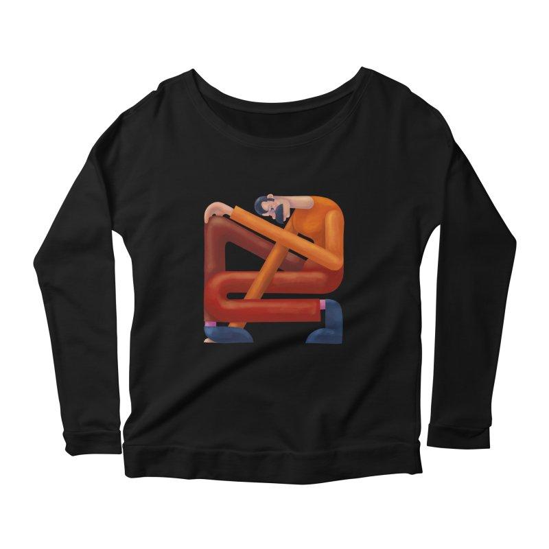 Boxed in Women's Scoop Neck Longsleeve T-Shirt by onedrop's Artist Shop