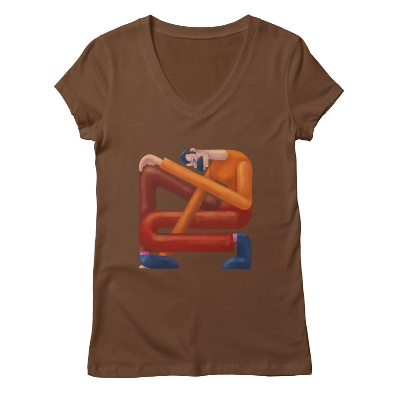 Boxed in Women's Regular V-Neck by onedrop's Artist Shop