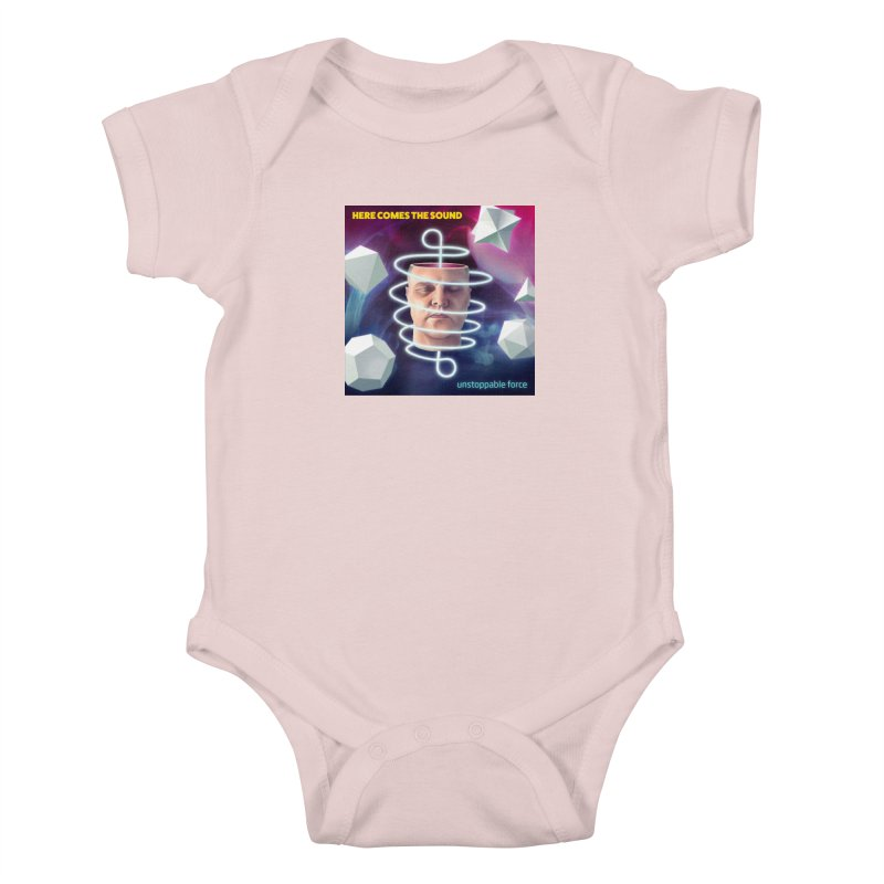 Here comes the sound Kids Baby Bodysuit by onedrop's Artist Shop