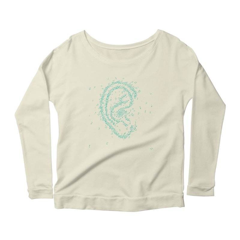Hear it Women's Scoop Neck Longsleeve T-Shirt by ONEELL