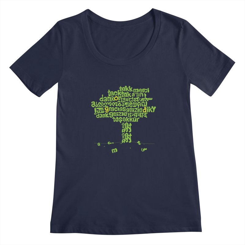 Thanks Women's Regular Scoop Neck by ONEELL