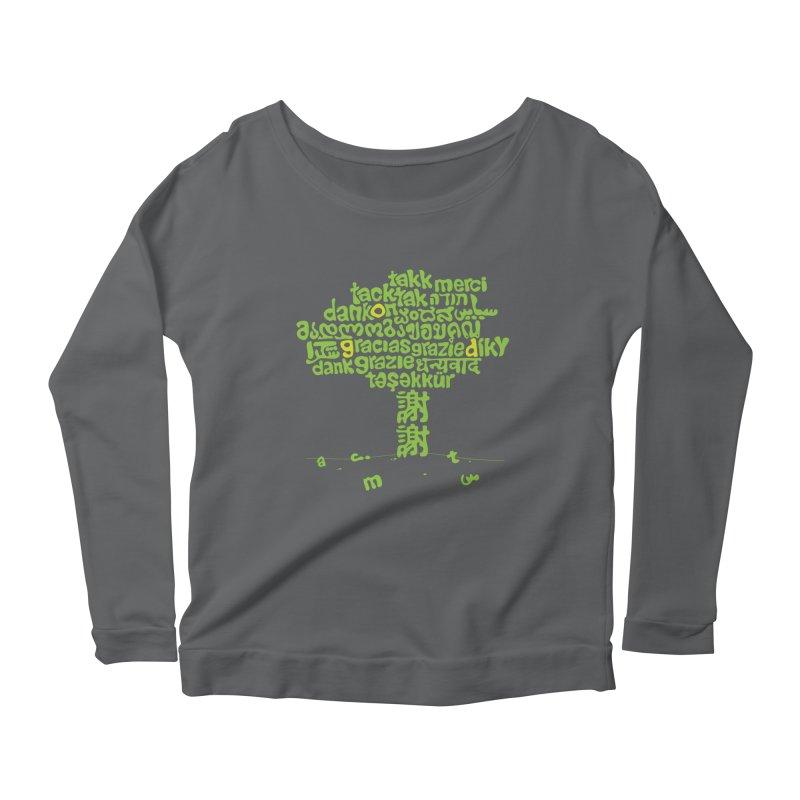 Thanks Women's Scoop Neck Longsleeve T-Shirt by ONEELL