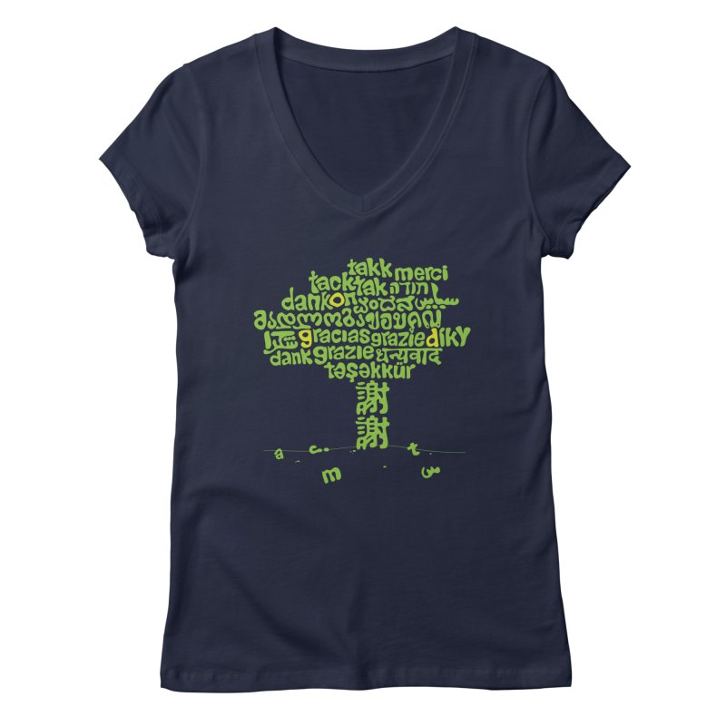 Thanks Women's V-Neck by ONEELL