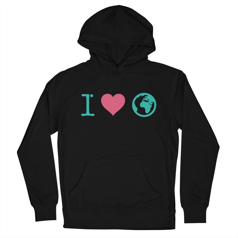 I Love Earth Women's French Terry Pullover Hoody by ONEELL