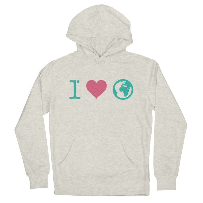 I Love Earth Men's French Terry Pullover Hoody by ONEELL