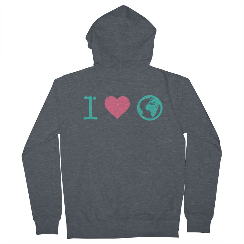 I Love Earth Women's French Terry Zip-Up Hoody by ONEELL