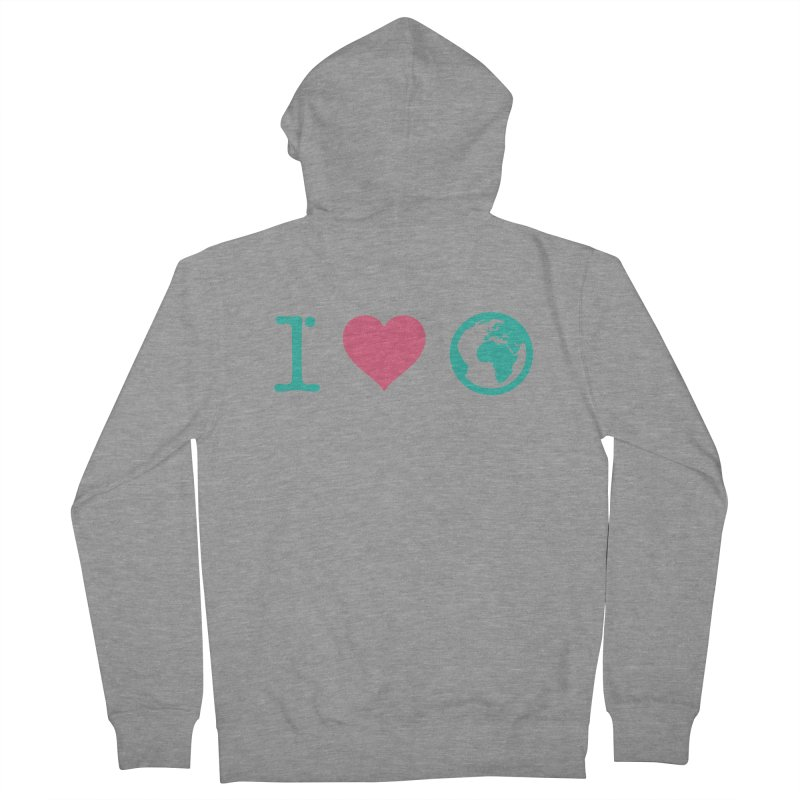 I Love Earth Women's Zip-Up Hoody by ONEELL