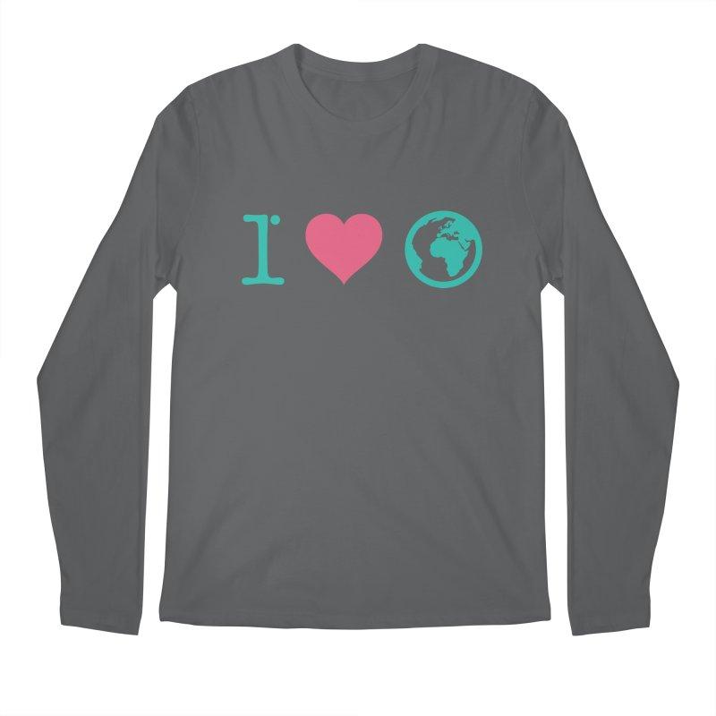 I Love Earth Men's Longsleeve T-Shirt by ONEELL