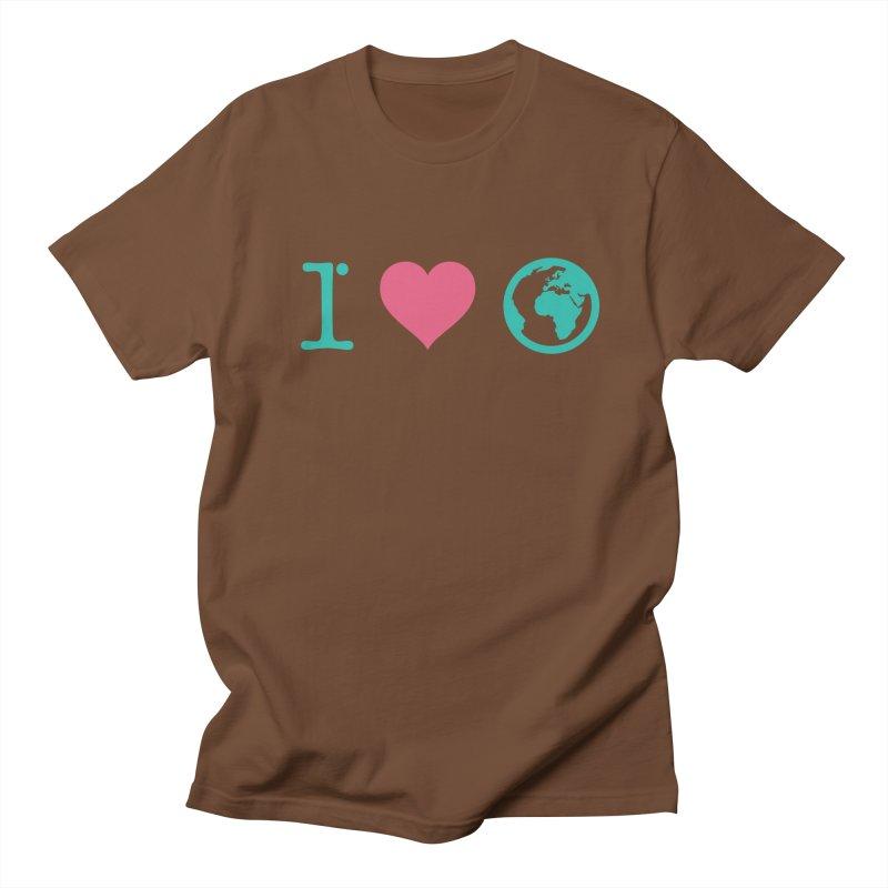 I Love Earth Men's Regular T-Shirt by ONEELL