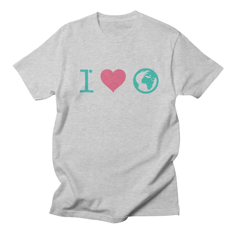 I Love Earth in Men's T-shirt Heather Grey by ONEELL