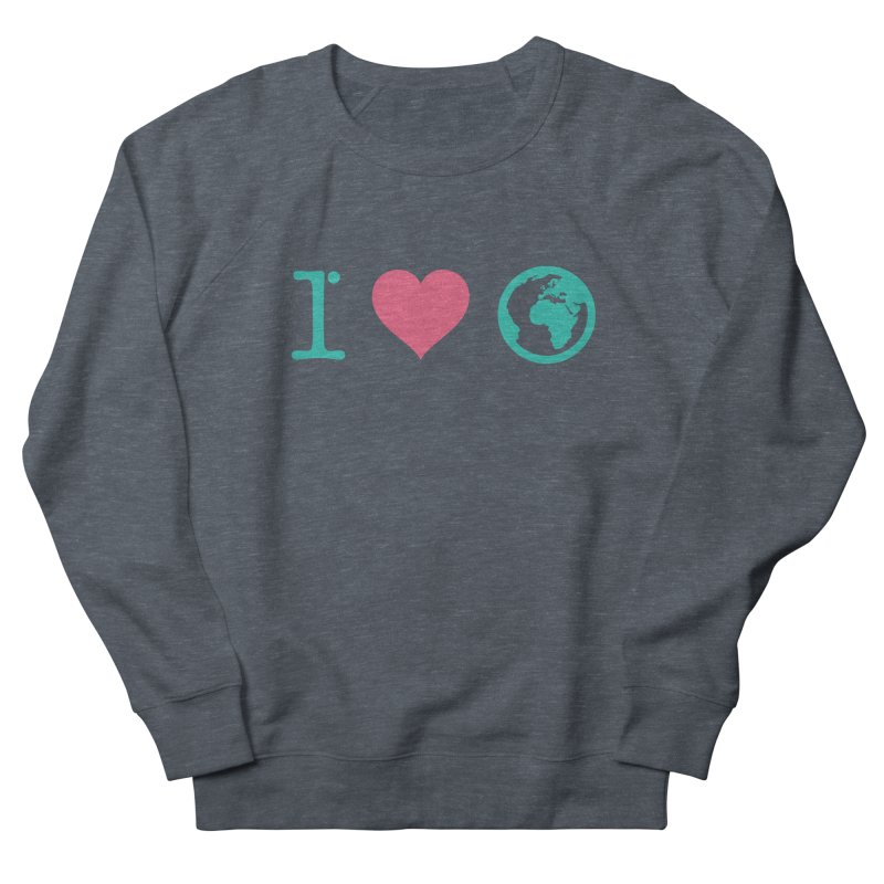 I Love Earth in Women's Sweatshirt Heather Navy Denim by ONEELL