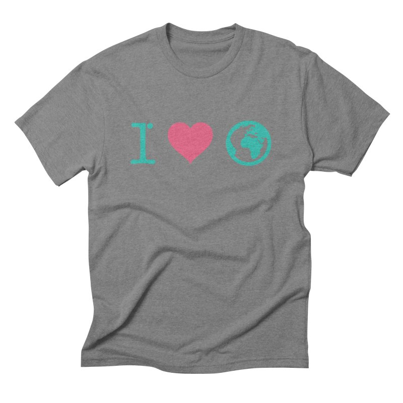 I Love Earth Men's Triblend T-Shirt by ONEELL
