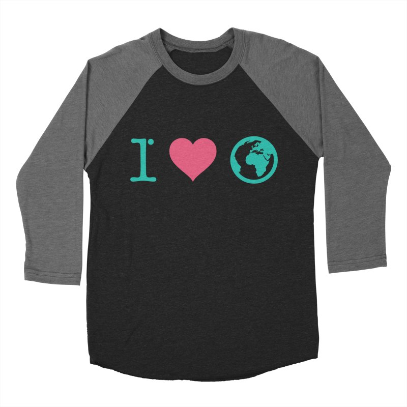 I Love Earth Women's Baseball Triblend T-Shirt by ONEELL
