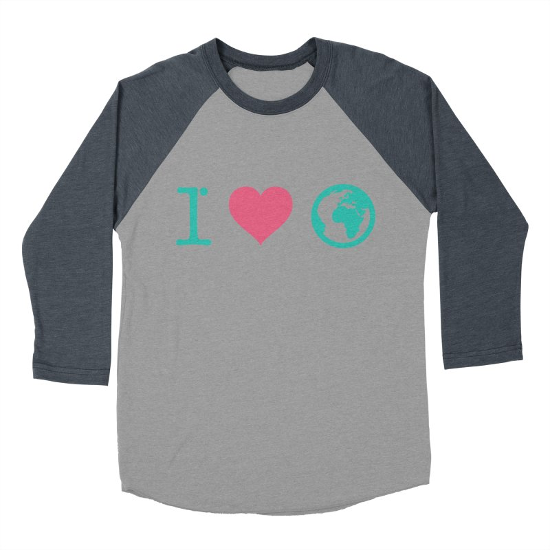 I Love Earth Women's Baseball Triblend Longsleeve T-Shirt by ONEELL