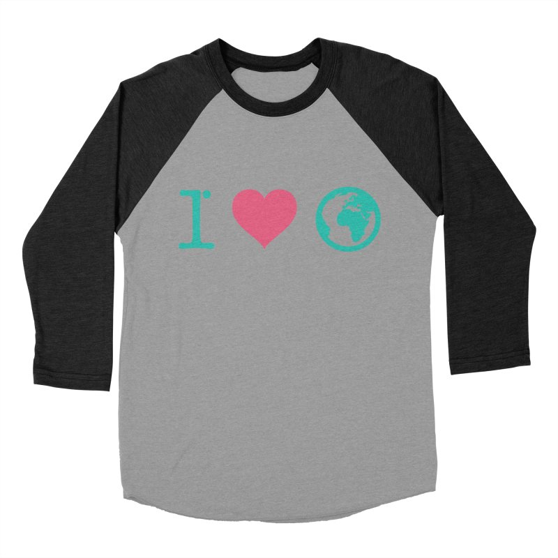 I Love Earth Men's Baseball Triblend T-Shirt by ONEELL