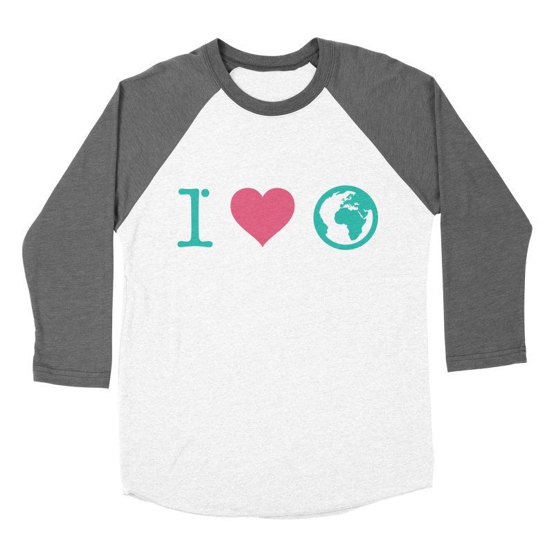 I Love Earth Men's Baseball Triblend Longsleeve T-Shirt by ONEELL