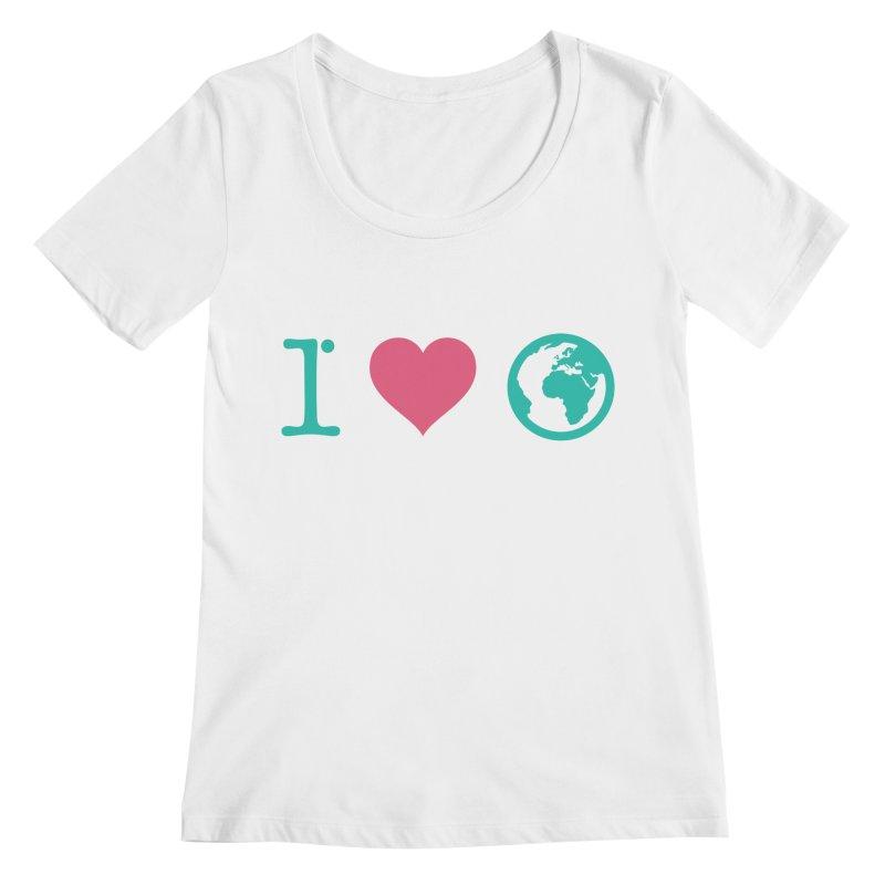 I Love Earth Women's Scoopneck by ONEELL