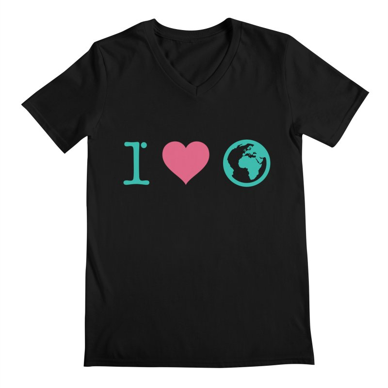 I Love Earth Men's Regular V-Neck by ONEELL