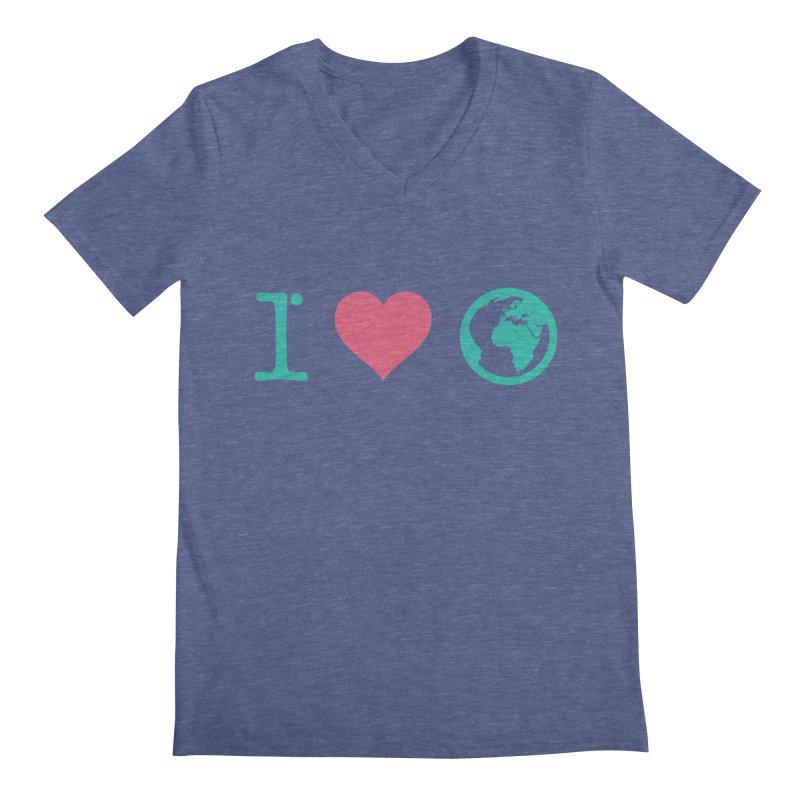 I Love Earth Men's V-Neck by ONEELL
