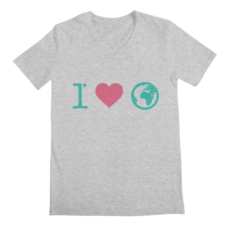 I Love Earth Men's V-Neck by ONEELL