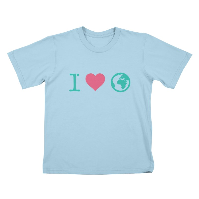 I Love Earth Kids T-shirt by ONEELL