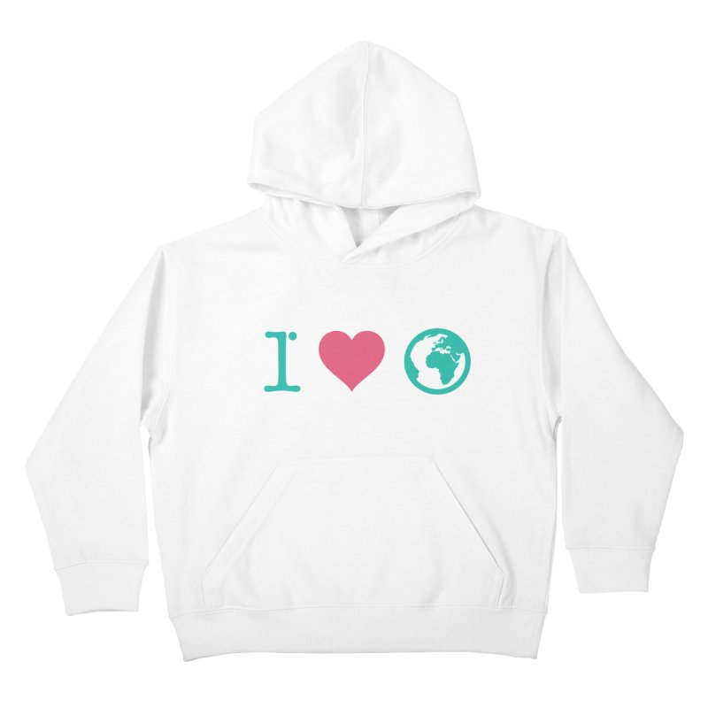 I Love Earth Kids Pullover Hoody by ONEELL