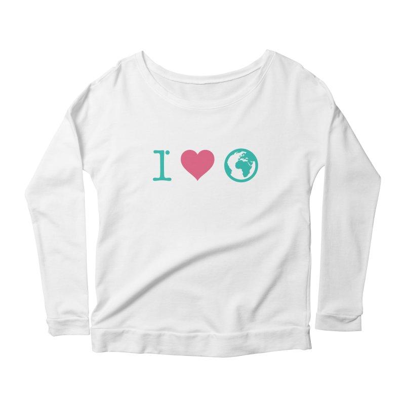 I Love Earth Women's Scoop Neck Longsleeve T-Shirt by ONEELL