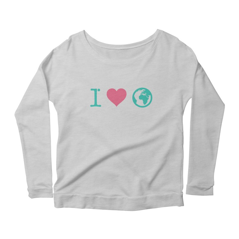 I Love Earth Women's Scoop Neck Longsleeve T-Shirt by ONEELL