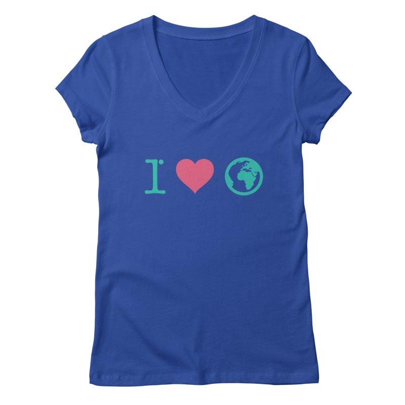 I Love Earth Women's Regular V-Neck by ONEELL