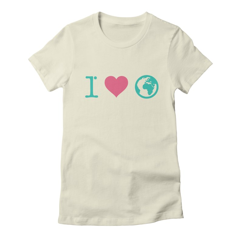 I Love Earth Women's Fitted T-Shirt by ONEELL