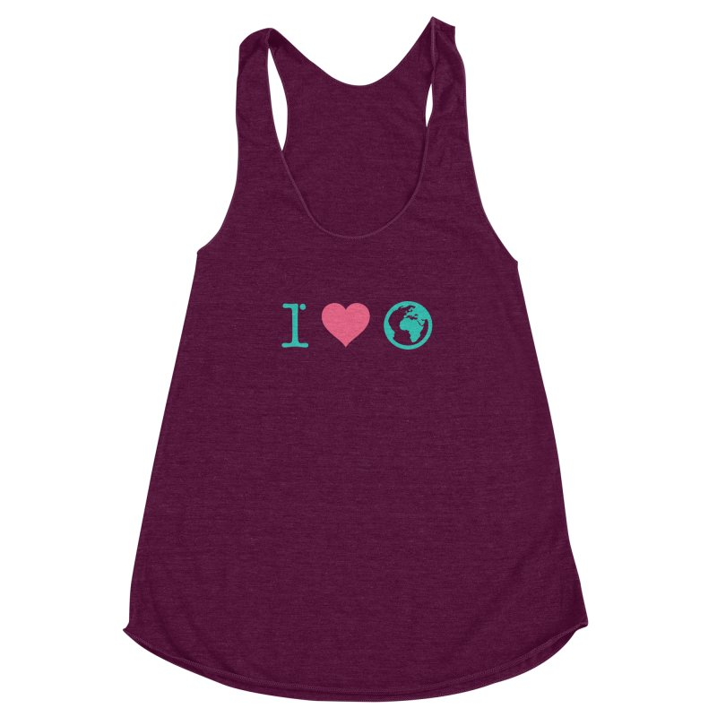 I Love Earth Women's Racerback Triblend Tank by ONEELL